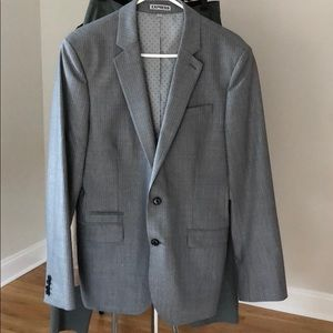 EXPRESS pinstripe Photographer fitted suit jacket